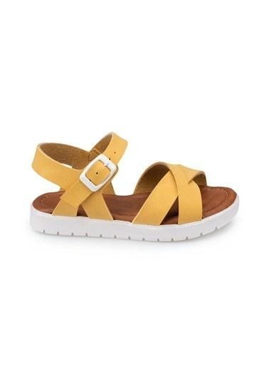 Polaris 91.508159.B Sarı Kız Çocuk Sandalet Sarı